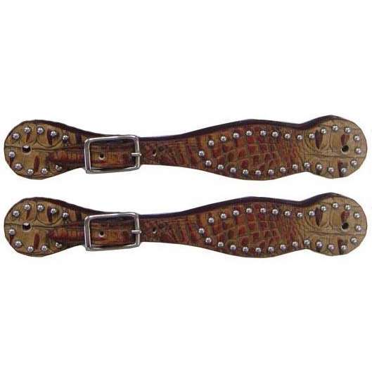 Tahoe Alligator Print Spur Straps with Spots - Pair