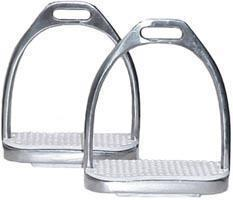 Derby Originals Stainless Steel Weighted Stirrup Fillis Irons with Rubber Pads