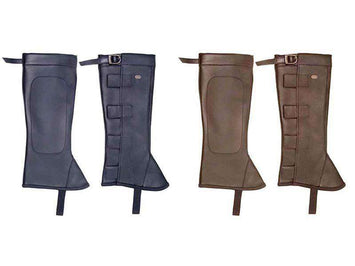 Derby Synthetic Leather Half Chaps with Velcro - Tack Wholesale