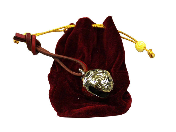 Solid Brass Christmas Sleigh Bell with Velvet Gift Bag - Tack Wholesale