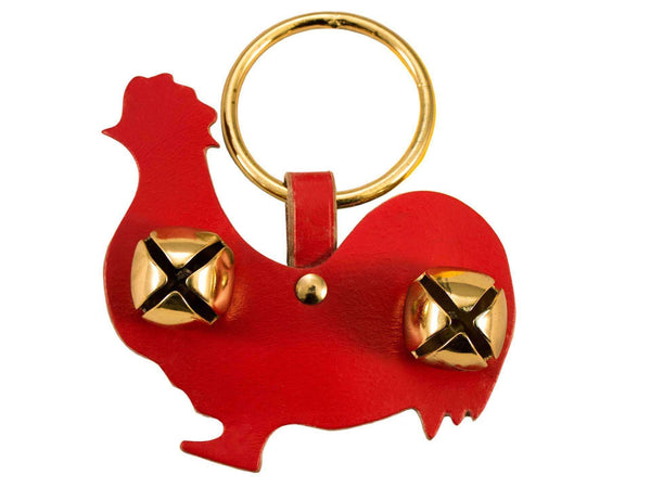 Tahoe Sleigh Bell Leather Door Hanger Chicken Rooster - Tack Wholesale