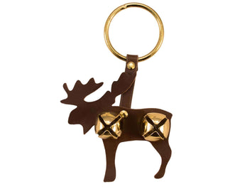 Tahoe Sleigh Bell Leather Door Hanger Moose - Tack Wholesale