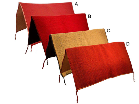 "Reversible Wool Saddle Blankets - 36"" X 34"" - Tack Wholesale"