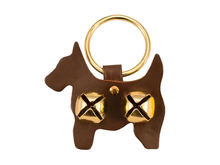 Tahoe Sleigh Bell Leather Door Hanger Scottie Dog - Tack Wholesale