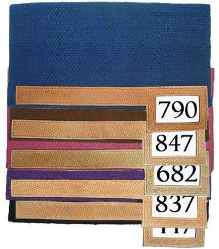 100% Wool Trophy Show Saddle Pad with Number Slot Closeout - Tack Wholesale