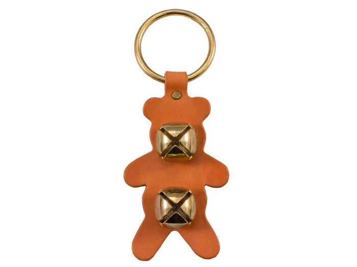 Weaver Leather Decorative Bell Door Hanger - Teddy Bear Shaped - Tack Wholesale