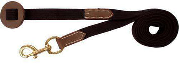 Matching Leather and Web Lead with Brass Snap and Stopper - Tack Wholesale