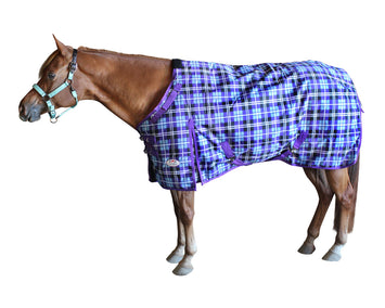 Derby Originals Arctic Purple Plaid 1200D Heavy Weight Waterproof Winter Horse Turnout Blanket 300g with 2 Year Warranty