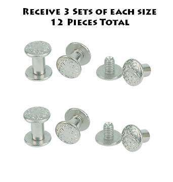 Weaver Chicago Screws Set of 6 Handy Pack - Tack Wholesale