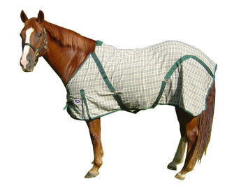 Derby Originals Classic Woven Cotton Hunter Beige Plaid Horse Summer Sheet