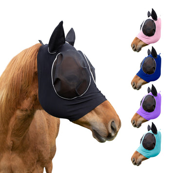 Derby Originals Safety Reflective Bug Eye UV-Blocker Soft Mesh Lycra Horse Fly Mask with One Year Warranty