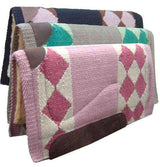 "Tahoe Tack Heavy-Duty Shock-Absorbing Fleece Backed 36x34"" Pure New Zealand Wool Saddle Blanket"