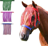 Derby Originals Easy On Horse Fly Fringe - Provides Protection from Insects without Impairing Vision - Attaches to Any Halter or Bridle