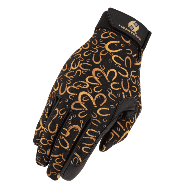 Heritage Performance Horse Riding Gloves Horseshoes