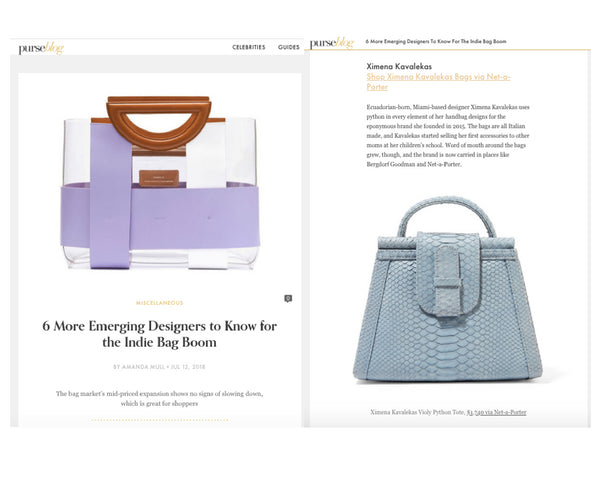 PurseBlog -  6 More Emerging Designers to Know for the Indie Bag Boom