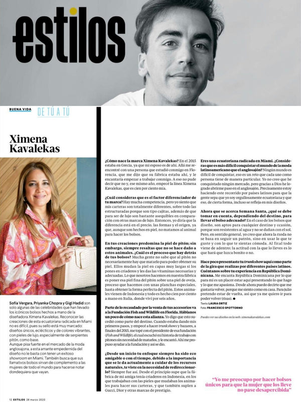 REVISTA ESTILOS, REPUBLICA DOMINICANA