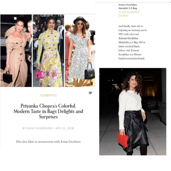 WWW.PURSEBLOG.COM - Priyanka Chopra's Colorful, Modern Taste in Bags Delights and Surprises