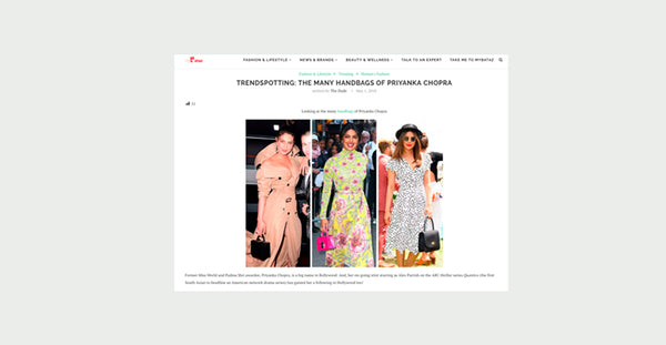 WWW.MYBATAZ.COM - TRENDSPOTTING: THE MANY HANDBAGS OF PRIYANKA CHOPRA