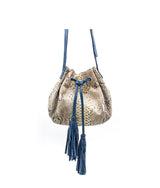 Ana Tassel in Natural/Blue