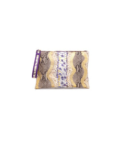 Avra V Zip Pouch - Royal Purple
