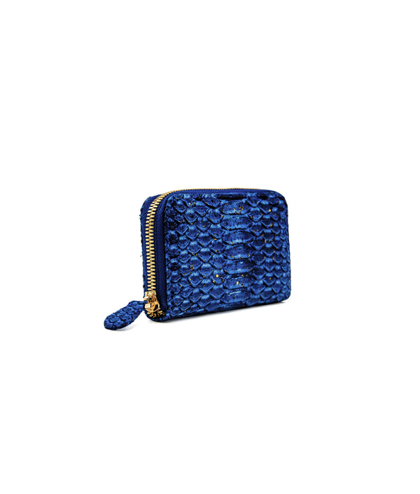 Yiya (The Mini Wallet)- Blue Suede