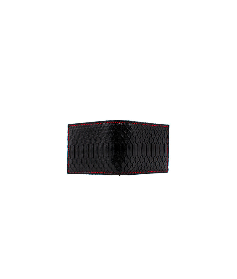 Clip Wallet in Black / Red