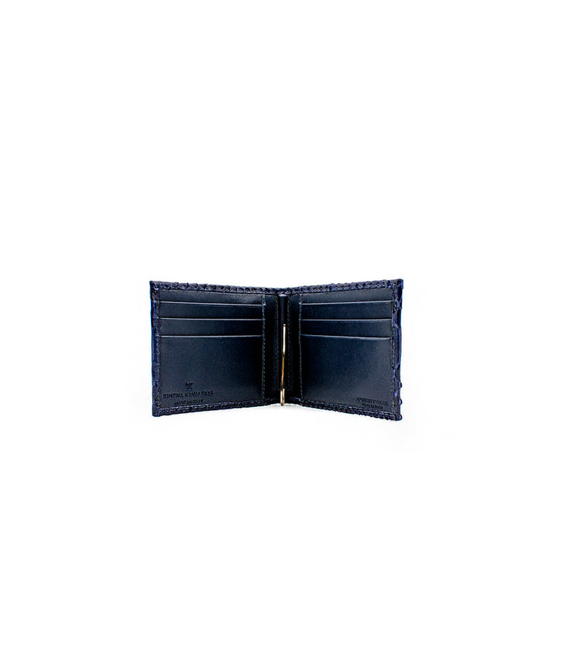 Clip Wallet in Blue