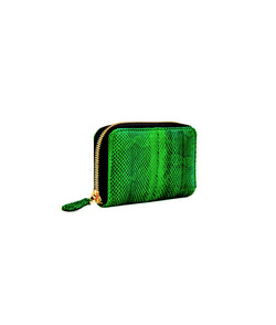 Yiya (The Mini Wallet)-Jade Green Water Snake