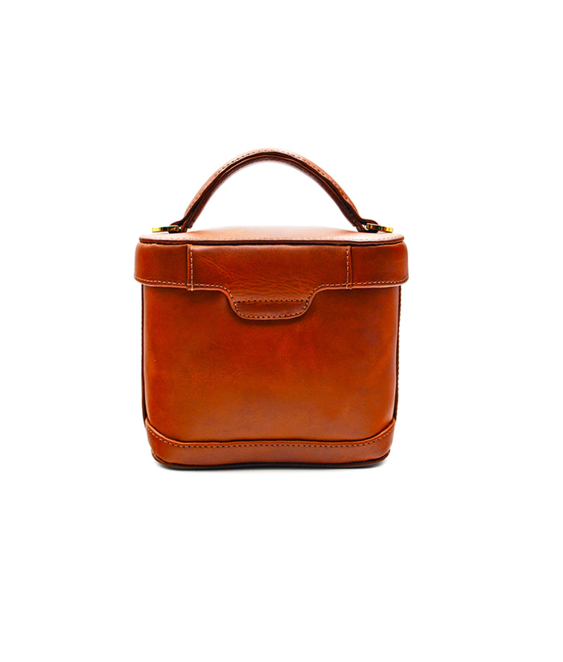 Jenny Small Leather- Bourbon