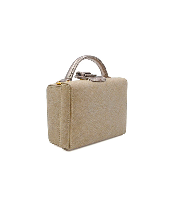 Caterina Small Canvas/Leather - Pewter