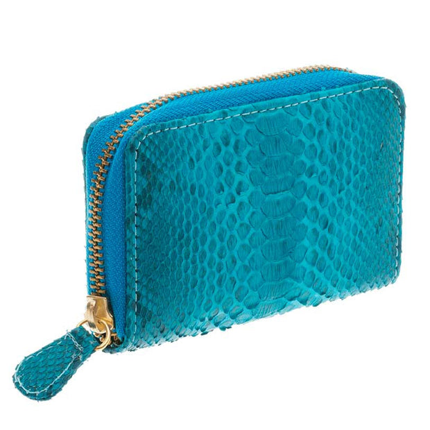 Yiya (The Mini Wallet) Turquoise Scaled