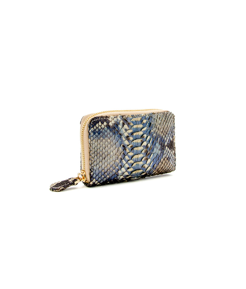 Yiya (The Mini Wallet)- Mocha Blue