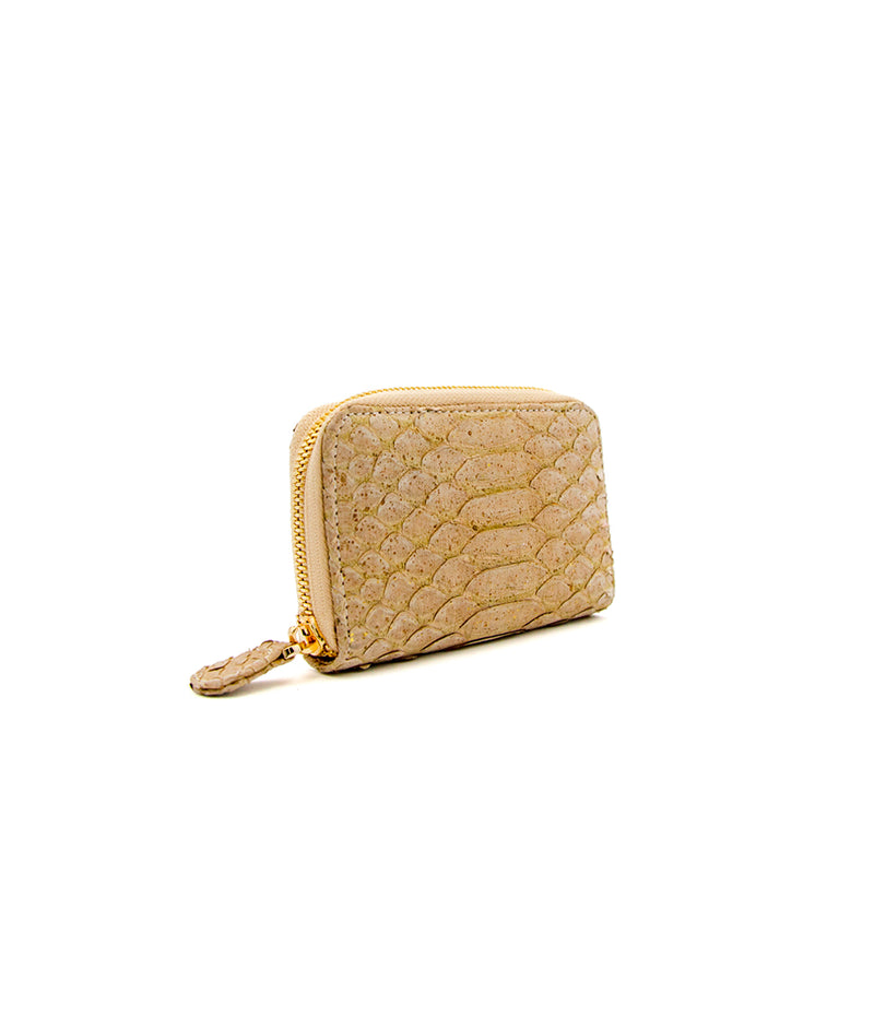 Yiya (The Mini Wallet)- Nude/Gold Splatter