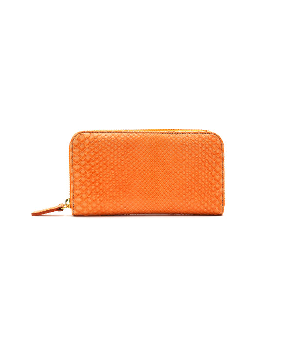 Continental Wallet in Cantaloupe