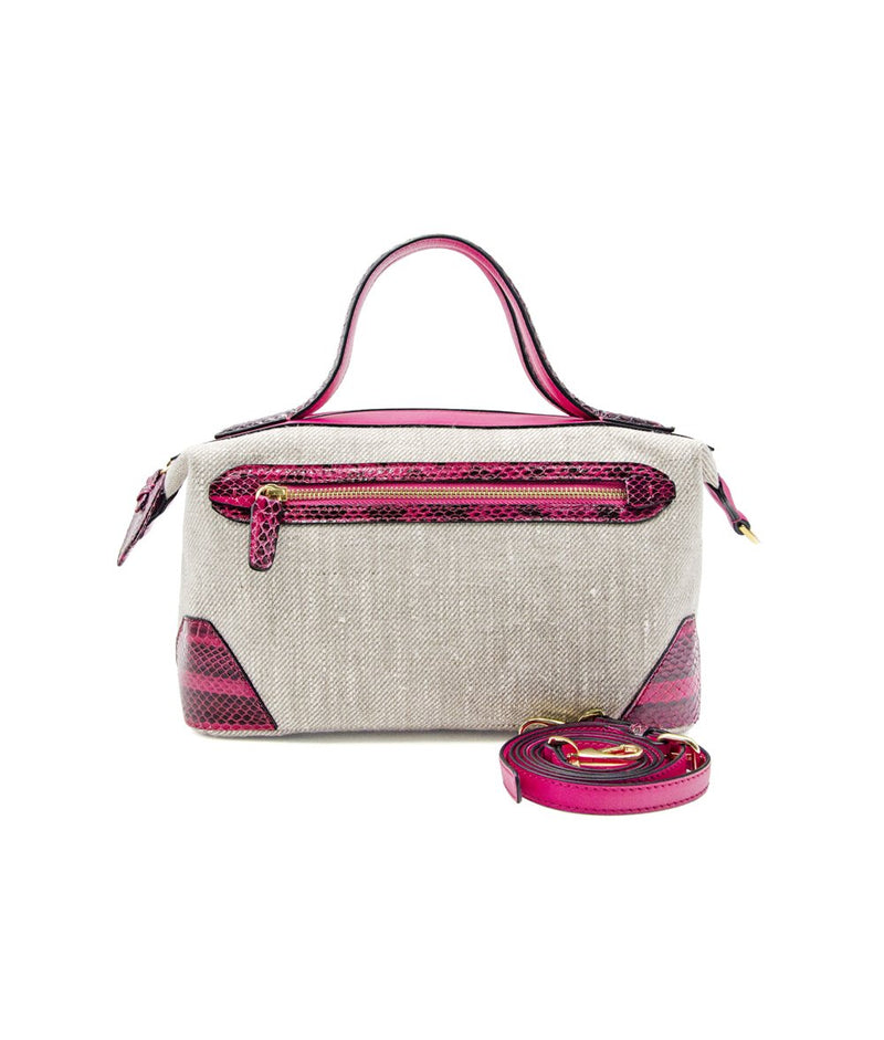Weekender Small (water snake) in Hot Pink Scaled