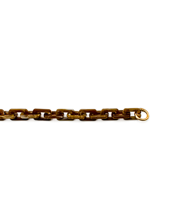 Acrylic Chain Brown Small