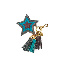Star Charm - Earthy Sky Brushed/ Turquoise/ Burgundy
