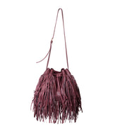 MJ Fringe Bucket Bag (Large) in Burgundy