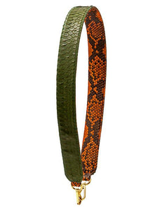 Clon Strap - Tangerine Scaled/Army Green