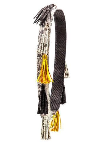Clon Strap Tassel - Black/Natural/Gold