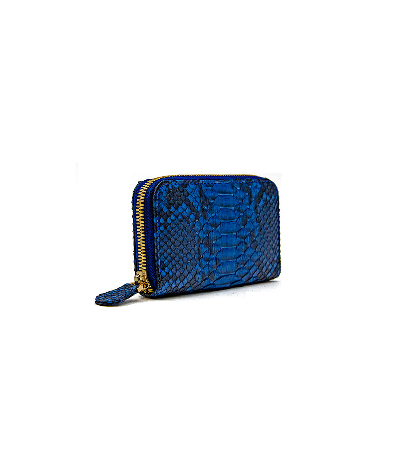 Yiya (The Mini Wallet)- Blue Scaled