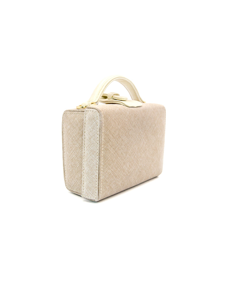 Caterina Small Canvas/Leather - Cream
