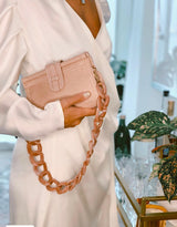 Carmen (Leather) in Naked Blush *Acrylic Chain Included