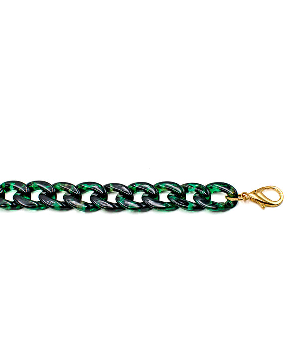 Acrylic Chain Dark Green