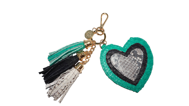 Heart Charm Emerald/Black/Natural