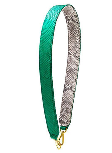 Clon Strap - Natural/Emerald Green