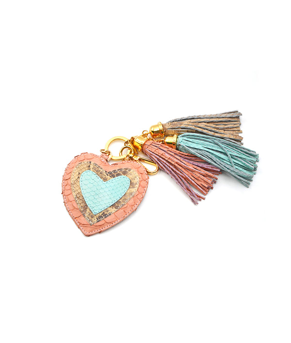 Heart Charm - Millennial Pink /Pistachio/ Ivory Scaled