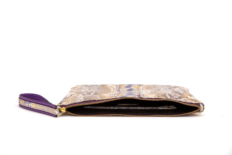 Avra V Zip Pouch - Royal Purple-Clutches-Ximena Kavalekas