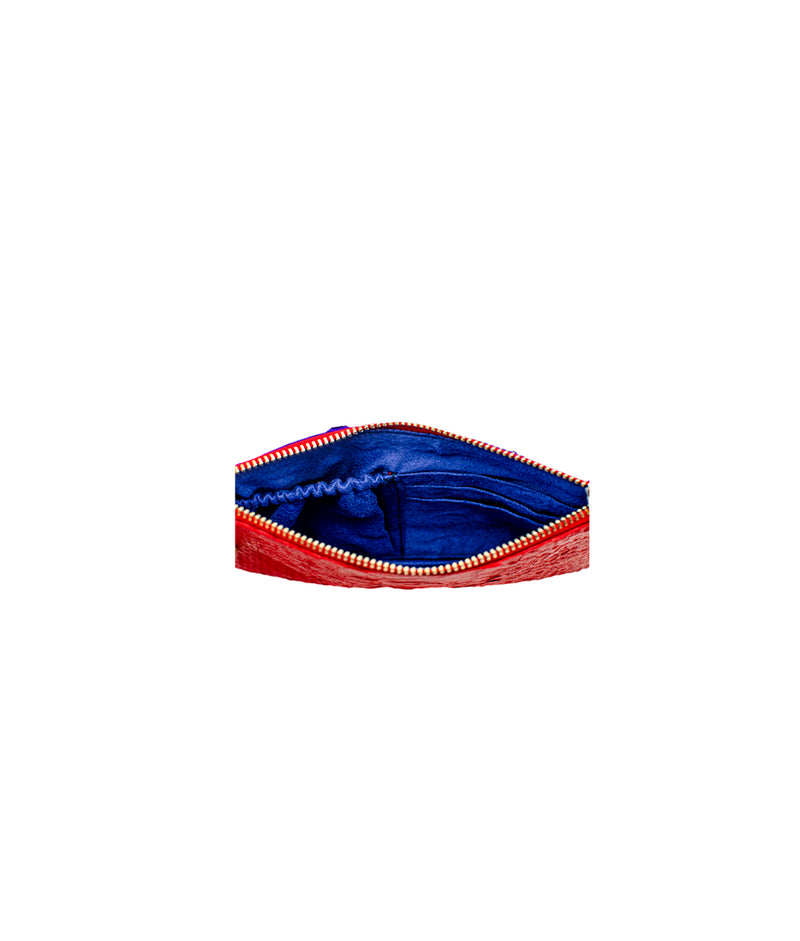 Mask Pouch in Red/ Deep Blue