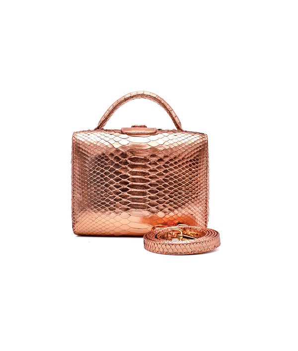 Caterina Small in Metallic Rose Gold